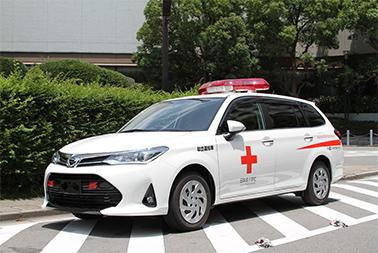 血液輸送車の募金活動の様子2