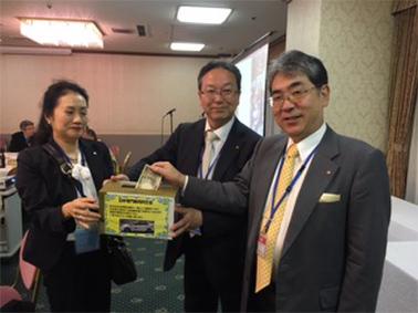 日本赤十字社への募金活動